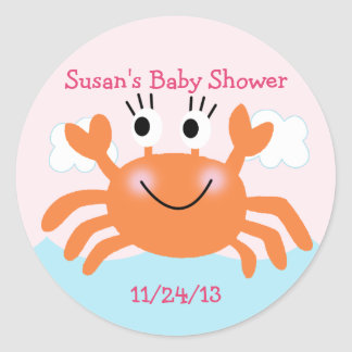 Under the Sea Creatures/Stickers/Cupcake Toppers Classic Round Sticker