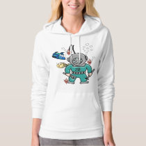 Under The Sea - Cute Fish and Divers - Monogrammed Hoodie