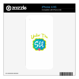 Under The Sea Decal For iPhone 4