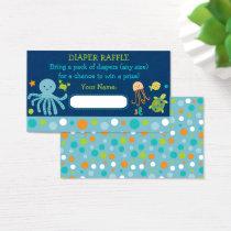 Under the Sea Diaper Raffle Tickets