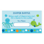 Under the Sea Diaper Raffle Tickets Business Card