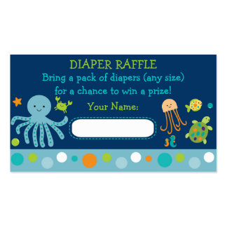 Under the Sea Diaper Raffle Tickets Business Card Templates