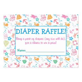 Under The Sea Diaper Raffle Tickets Large Business Cards (Pack Of 100)