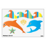 Under the Sea Dolphin Waves Starfish Wall Decal