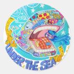 under the sea dreams classic round sticker