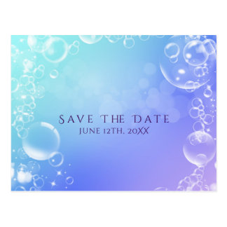 Under the Sea Enchanted Bubbles Save the Date Postcard