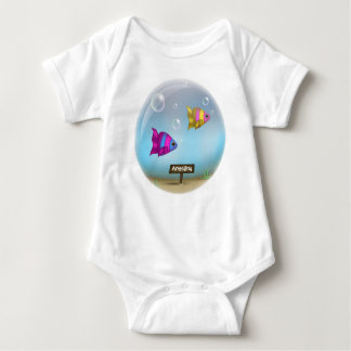 Under the Sea - Fish Bowl Design - Baby Onsie T-shirt
