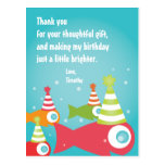 Under the Sea Fish Thank You Post Card