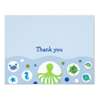 Under the Sea Flat Thank You Note Cards
