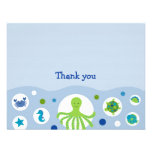 Under the Sea Flat Thank You Note Cards Announcement