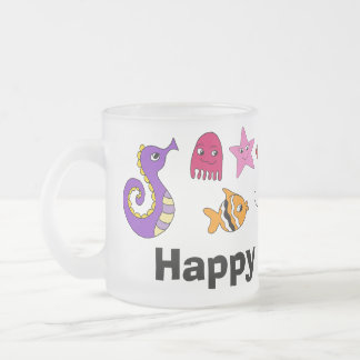 Under the Sea Frosted Glass Coffee Mug