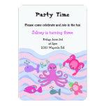 "Under the Sea Girls Birthday Invitation 5"" X 7"" Invitation Card"
