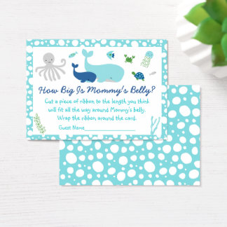 Under The Sea How Big Is Mommy's Belly Game Business Card