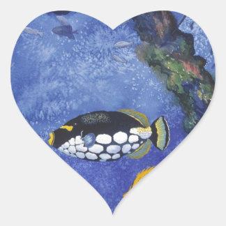 Under the Sea I Heart Sticker