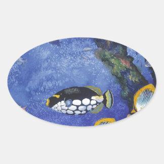 Under the Sea I Oval Sticker