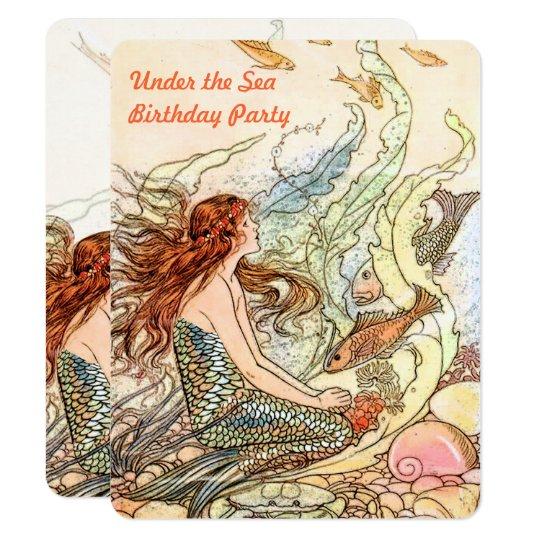 Under the Sea Invitation Mermaid Birthday Party