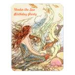 "Under the Sea Invitation Mermaid Birthday Party 4.25"" X 5.5"" Invitation Card"