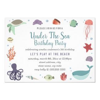 Under The Sea Kids Birthday Invitation