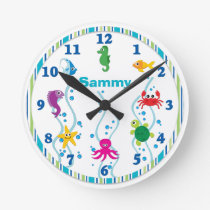 Under the Sea Kids Room Clock