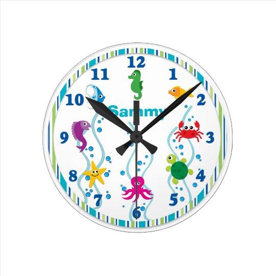 Under the sea kids room clock zazzle for Kids room clock