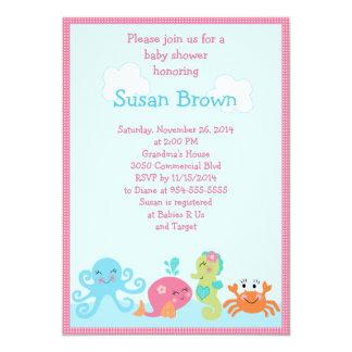 Under the Sea life/Girl Baby Shower Invitation 2