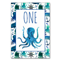 Under the Sea Marine Nautical Birthday Party Table Number