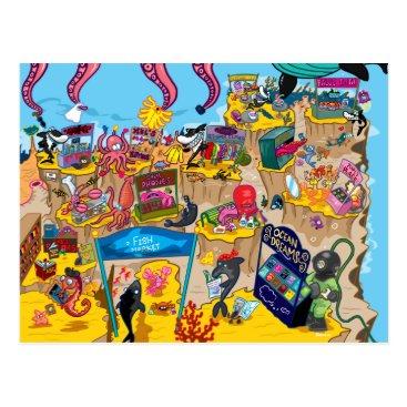 StiKtoonz Under the Sea Market Postcard