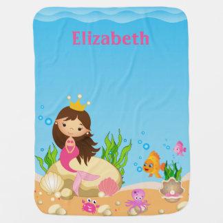 Under the Sea Mermaid Baby Blanket