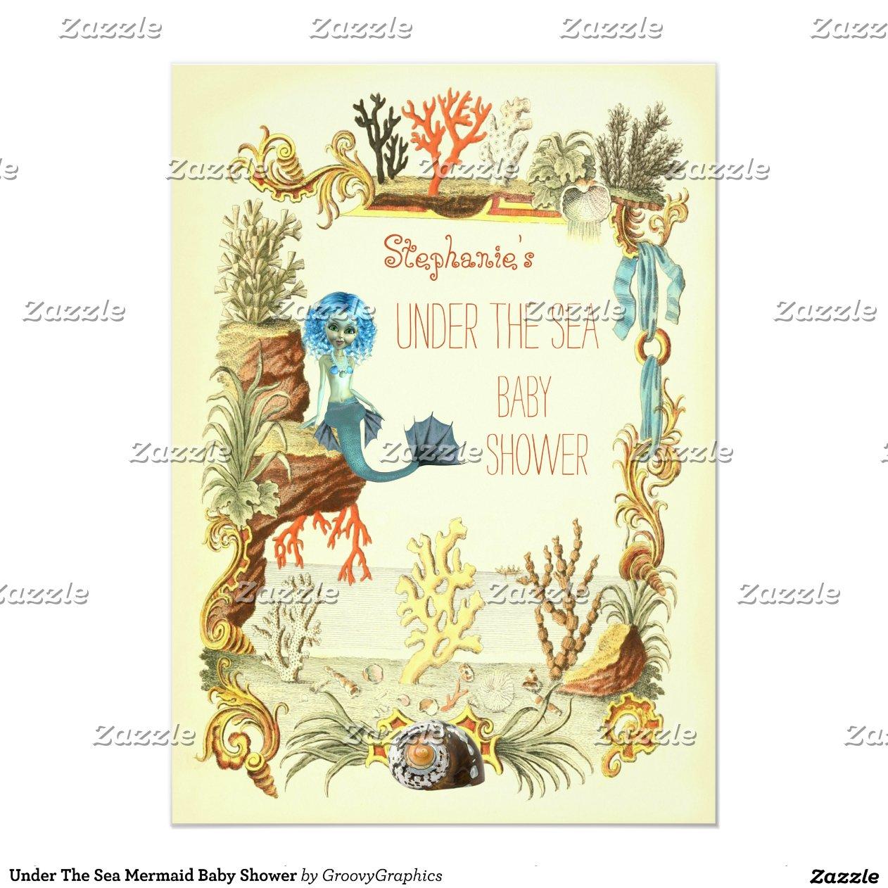 Mermaid Baby Shower Invitation as perfect invitations design