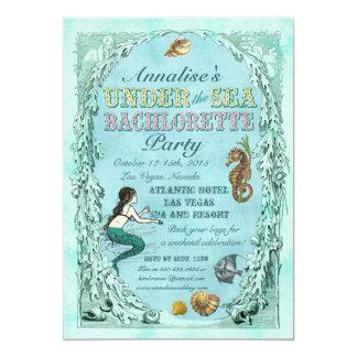 Under the Sea Mermaid Bachelorette Party Invite