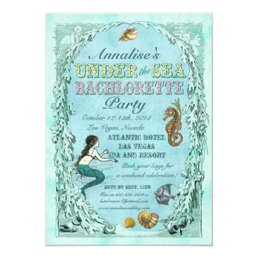 bnuteproductions Under the Sea Mermaid Bachelorette Party Invite