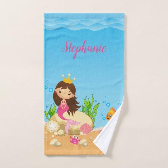 Under The Sea Mermaid Bath Towel Set Zazzlecom