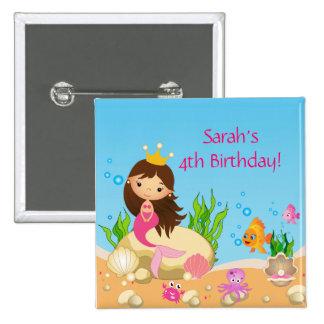 Under the Sea Mermaid Birthday Button