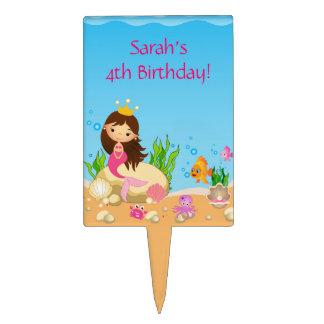 Under the Sea Mermaid Birthday Cake Topper