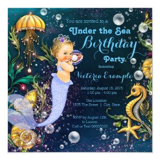 Under The Sea Mermaid Birthday Party Card