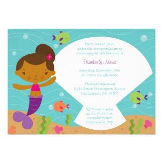 Under the sea mermaid birthday party invitation