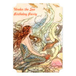 Under the Sea Mermaid Birthday Party 5x7 Paper Invitation Card