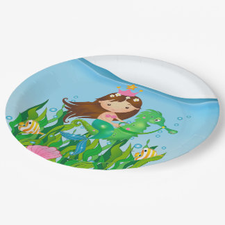 Under the Sea Mermaid Birthday Party Paper Plate