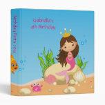 Under the Sea Mermaid Birthday  Photo Album 3 Ring Binder