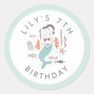 Under the Sea Mermaid Birthday Stickers