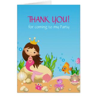 Under the Sea Mermaid Birthday Thank You Card