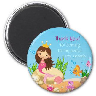 Under the Sea Mermaid Birthday  Thank You Magnet