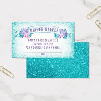 Under the Sea Mermaid Diaper Raffle Tickets
