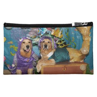 Under the Sea Mermaid Golden Retrievers Cosmetic Bag