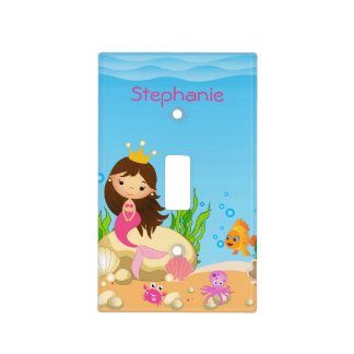 Under the Sea Mermaid Light Switch Cover