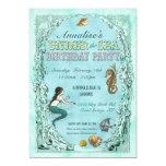 Under the Sea Mermaid Party Invitation