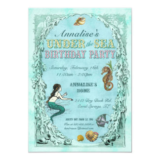 Under the Sea Mermaid Party Invitation