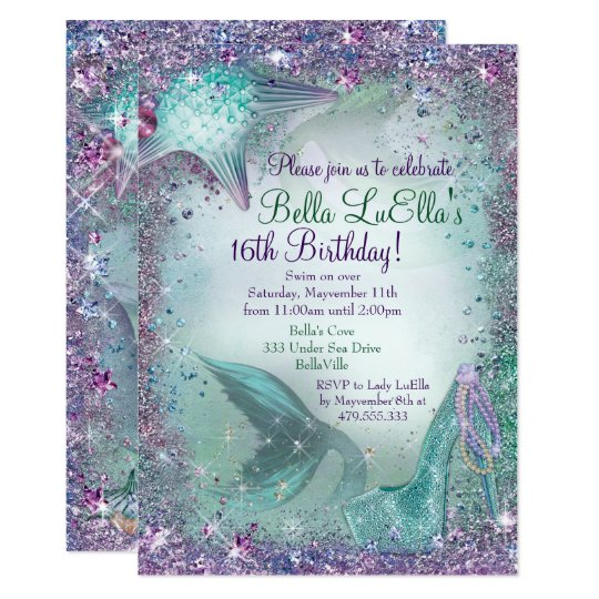 Under The Sea Mermaid Party Invitations