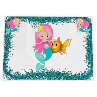 Under the Sea Mermaid Party Large Gift Bag