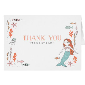 Under the Sea Mermaid Thank You Cards